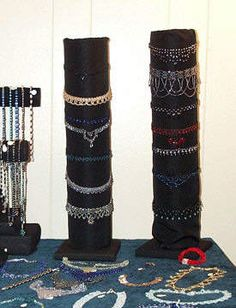 DIY jewelry display ideas - for when you're just starting out and the budget is tight.