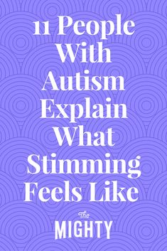 People with autism spectrum disorder describe what stimming is and what it feels like. Autism Teens, Adhd And Autism, Autism Parenting, Autism Teaching, Autism Awareness Facts, Autism Facts, Autism Sensory, Autism Activities, Autism Resources