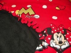 Minnie Mouse Fleece Tie Blanket Hand Made for a by Susieskorner, $21.00