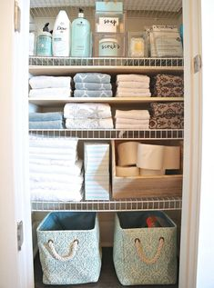 10 DIY Dollar Store Home Organization Ideas You Wish You Knew Sooner Tips and tricks for organizing linen closet or cabinet. Tips and tricks for organizing linen closet or cabinet. 10 DIY Dollar Store Home Organization Ideas You Wish You Knew Sooner Bathroom Closet Organization, Bathroom Organisation, Closet Storage, Bathroom Storage, Organized Bathroom, House Organization Ideas, Bathroom Styling, Storage Organization, Cabinet Closet