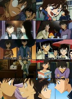 The two couples from DC and MK  ShinichiXRan and KaitoXAoko