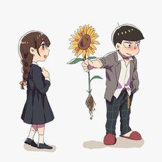 Highschool matsu,i guess,oh well, Homura x jyushimatsu Japanese Show, Osomatsu San Doujinshi, Ichimatsu, South Park, Anime Couples, Cute Art, Kawaii, Fan Art, Animation