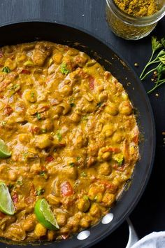 *add sweet potato* try with Whole Foods curry powder instead ** This Creamy Vegan Coconut Chickpea Curry is the BEST curry I've ever had! It's loaded with homemade grinded spices and incredily flavorful! Veggie Recipes, Indian Food Recipes, Whole Food Recipes, Vegetarian Recipes, Cooking Recipes, Healthy Recipes, Vegan Chickpea Recipes, Yummy Recipes, Healthy Snacks