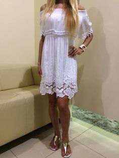 White Dress, Summer, Dresses, Fashion, White Dress Outfit, Summer Time, Gowns, Moda, La Mode