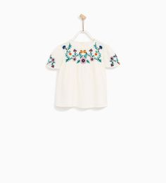 BLOUSE WITH FLORAL EMBROIDERY-NEW IN-BABY GIRL | 3 months - 4 years-KIDS | ZARA United States