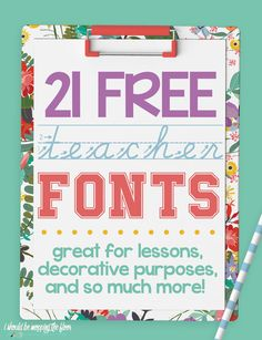 These 21 Free Teacher Fonts are great for classroom or home use. From handwriting practice fonts to math symbols, there are so many useful fonts in this list. Handwriting Sheets, Free Handwriting, Handwriting Alphabet, Handwriting Practice, Font Alphabet, Spanish Alphabet, Handwriting Worksheets, Free Cursive Fonts, Handwritten Fonts
