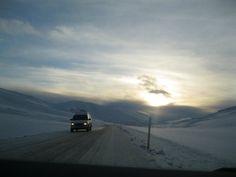 Snowy roads Iceland