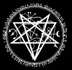 Leviathan Sigil by OmadanIX on DeviantArt Alchemy Symbols, Magic Symbols, Ancient Symbols, Satanic Art, Occult Art, Desenho Tattoo, Magic Circle, Book Of Shadows, Black Magic