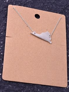 State Necklace - Virginia – Duo Boutique