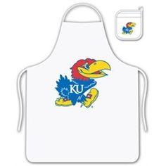 University of Kansas Jayhawks KU Apron and Oven Mitt Set