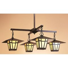 Arroyo Craftsman Westmoreland 4 Light Sputnik Chandelier Finish: Antique Brass, Shade Color: Gold White Iridescent