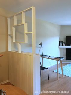 #Engineeryourspace Inspired Reader Spotlight: IKEA bookcase Dividing Wall
