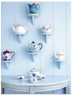I will soon have enough Steeped Tea Teapots, in addition to my others, to make this work!