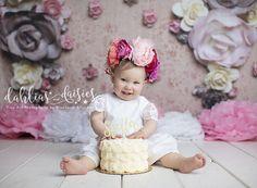 Dallas Cake Smash Photographer, vintage floral cake smash Dallas Cake, Floral Cake, Dahlias, Cake Smash, Vintage Floral, Baby Kids, Flower Girl Dresses, Babies, Wedding Dresses