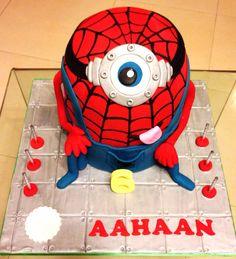 Minion Spider-Man Cake