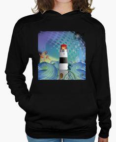 un faro en medio del mar, un caballo de mar, un extraño pez, plantas marinas, un mundo por descubrir, un ambiente onírico con el mar como tema principal. como un sueño oceánico, a FLIP le gusta el mar. ¿y a tí te gusta? a lighthouse in the sea, a sea horse, a strange fish, marine plants, a world to discover, a dream-like atmosphere with the sea as its main theme. as an oceanic dream, FLIP likes the sea. and you like it?.