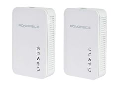 Ethernet over Power Powerline Converter- HDStream Kit + Integrated WIFI 200mbps - Monoprice.com $76.23