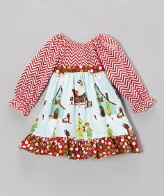 Look at this Beary Basics Winter Wonderland Pattycake Tie-Back Dress - Toddler & Girls on #zulily today!