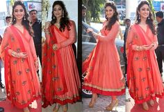 Ileana D'Cruz At A Store Launch In Hyderabad in Anamika Khanna
