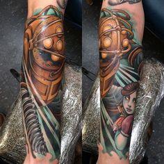 1000 ideas about bioshock tattoo on pinterest video for Bioshock wrist tattoo