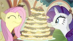 Rarity & Fluttershy craving éclairs