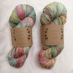 Wild flowers hand dyed yarn by Lichen and Lace