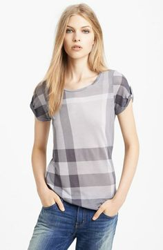 Burberry Brit Check Print Tee available at #Nordstrom