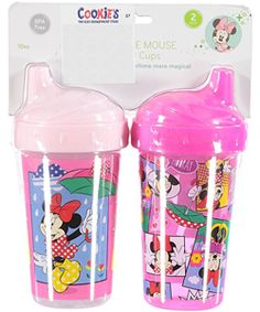 Minnie-mize spills with these leak-free Minnie Mouse sippers! Disney Kitchen Decor, Sippy Cups, Cookies For Kids, Pacifiers, Birthday Wishlist, Toddler Meals, Boy Or Girl, Baby Kids, Minnie Mouse