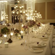 Glam candles lining tables. #LuxBride