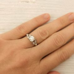 Antique .78 Carat Old European Cut Diamond Engagement Ring $4950