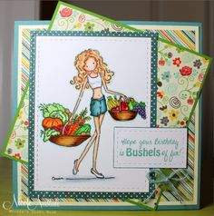 Bushels of Fun by nmnastali - Cards and Paper Crafts at Splitcoaststampers It's Your Birthday, 4th Birthday, Stamp Collecting, I Card, Card Ideas, About Me Blog, Vogue, Paper Crafts, Heart