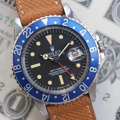 New Addition: Potentially NOS GMT Blueberry 1675. #blueberry  #rolexgmt #gmt #vintagerolex #vrf