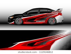 Immagini, foto stock e grafica vettoriale simili a tema Car decal graphic vector, truck and cargo van wrap vinyl sticker. Graphic abstract stripe designs for branding and drift livery car - 1136018282 Car Stickers, Car Decals, Pick Up, Pickup Trucks, Van Wrap, Vans, Cargo Van, Mitsubishi Lancer Evolution, Lightning Mcqueen