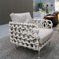 cool, een gebreide stoel!