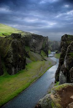 This is Fjaðrárgljúfur (Feather-river-canyon), it's in south east Iceland by Sindri