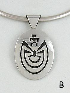 Authentic Native American sterling silver man in a maze pendant by Vernon Begay Navajo