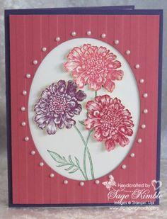Mad Stampers Club handmade card using Field Flowers stamp set