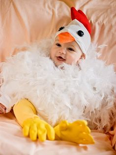 chicken costume....  i've been given permission to make this for Hudson!