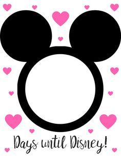 Countdown to Disney. Disney World Trip Countdown. Free Printable Countdown to Disney :) Let the countdown to Disney begin! Disney World Trip, Disney Vacations, Disney Trips, Disney Disney, Disney 2017, Disney Ideas, Family Vacations, Disney Cruise, Trip Countdown