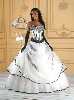 Prom Ball Gown Dresses,Latest Fashionable noble white and black sweet fifteen dress 2691010,discount designer quinceanera ball gowns,This Beautiful Quinceanera Gown, Sweet 16 Dress to make your Quinceanera, Sweet 15, Sweet 16 celebration most affordable and memorable.