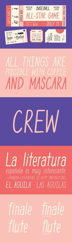 YWFT Crew - Casual and expressive, YWFT Crew is a handwritten sans serif that pairs its natural, organic st...