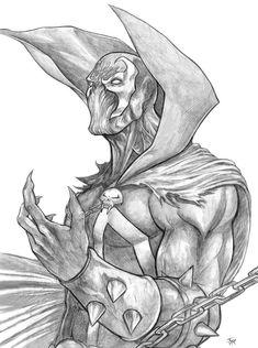 Spawn Art by Iain Reed Comic Book Drawing, Batman Drawing, Drawing Superheroes, Marvel Drawings, Dark Art Drawings, Comic Books Art, Comic Art, Mortal Combat Personajes, Spawn Comics