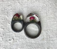 Red rose ring Terrarium wood ring Resin wood ring Gift for women Gift for him Gift for men Wooden ring Secret world ring Plant resin ring Gifts For Him, Gifts For Women, Resin Jewelry Making, Crystal Resin, Jewelry Gifts, Unique Jewelry, Resin Ring, Wood Resin, Wood Rings