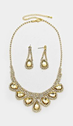 Crystal Beverly Necklace in Champagne