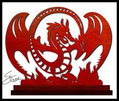Winged Dragon Scroll Saw Pattern.