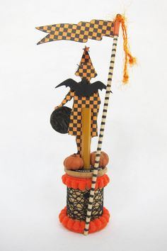 "I love figures on spools. When I saw some cute Halloween spools  made by Lynn Stevens, I thought, ""Why have I never done trick or treaters?""..."