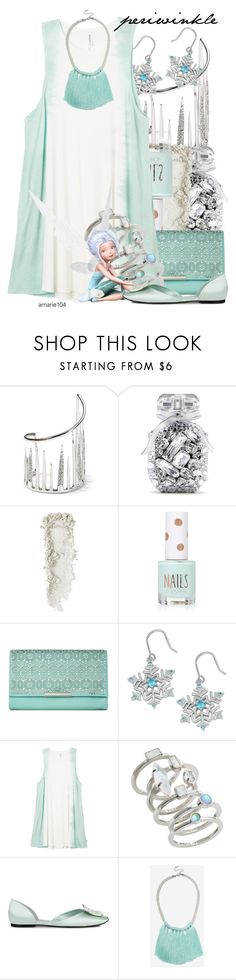 """""""Periwinkle"""" by amarie104 ❤ liked on Polyvore featuring Alexis Bittar, Victoria's Secret, Topshop, Jessica McClintock, Fremada, RVCA, Kendra Scott, Disney and Roger Vivier"""