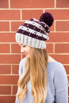 0816f459987 Knit Cable Beanie. Beanies for Men or Women. Knit Hat. Medium Blue ...