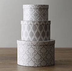 Patterned Paper Nesting Hatboxes