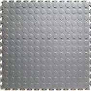Rubber coin flooring in the bathroom